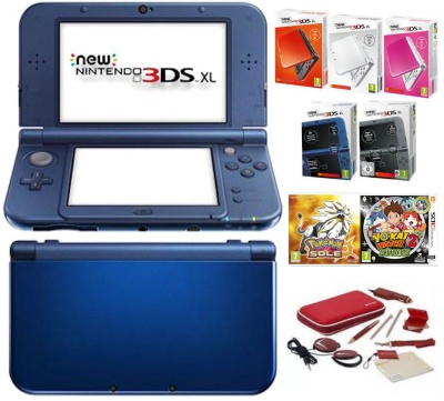New Nintendo 3DS XL + Giochi + Alimentatore + Accessori